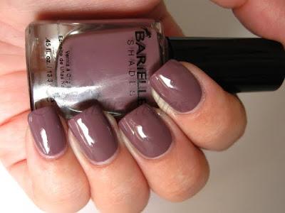 barielle get mauve-ing mauve taupe creme nail polish nailswatches