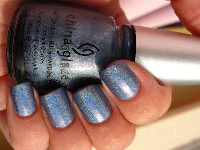 china glaze om collection idk periwinkle holographic nail polish nailswatches