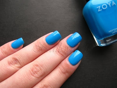 zoya robyn flash collection 2010 bright blue creme nail polish nailswatches
