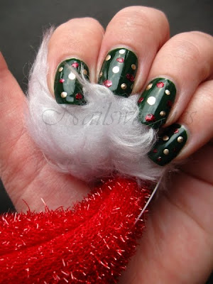 rbl recycle christmas manicure dots nail polish nailswatches