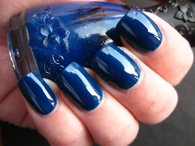 nfu oh 558 blue jelly nail polish nailswatches