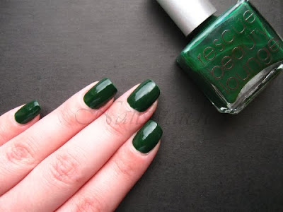 RBL Rescue Beauty Lounge Recycle Green creme nail polish nailswatches