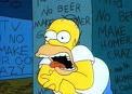 Sin tele y sin cerveza Homer pierde la cabeza
