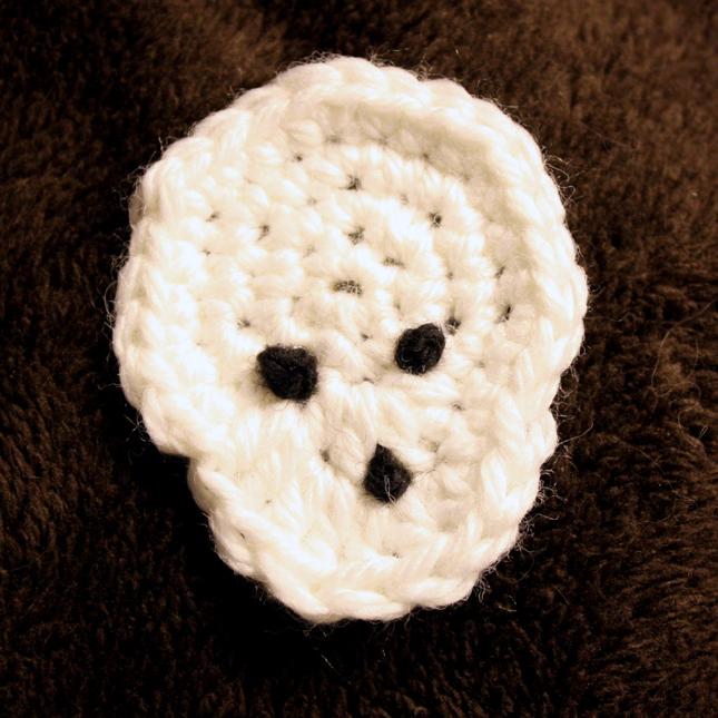 Jenn Maple Handmade Skull Applique Free Crochet Pattern