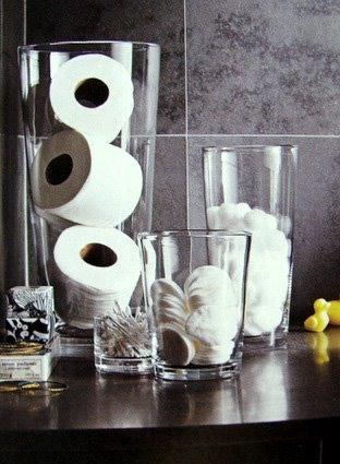 дизайн, interior design, стекло в интерьере, декор из банок