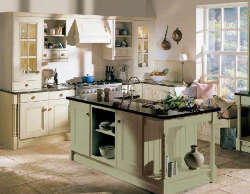 Интерьер кухни в стиле кантри.