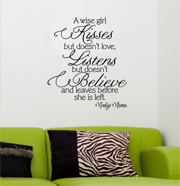 дизайн стен, наклейки на стенах, виниловые украшения на стену, vinyl lettering designs