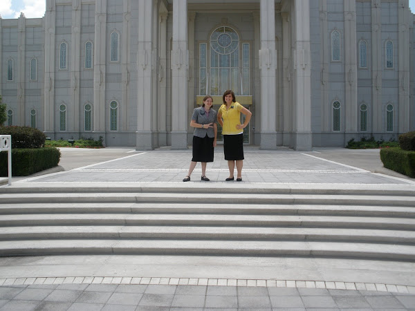 My companion and I at the temple YEAH!