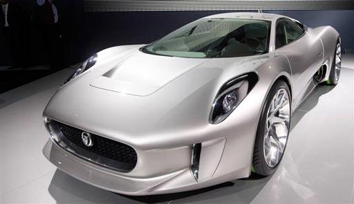 Jaguar concept electric car at Paris Motor Show