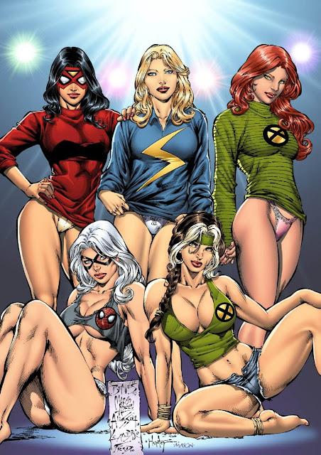 chicas sexy superheroinas, chicas heroe dibujos sexy