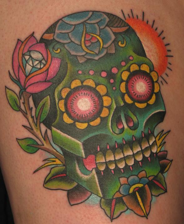 trend tattoos sugar skull tattoos. Black Bedroom Furniture Sets. Home Design Ideas