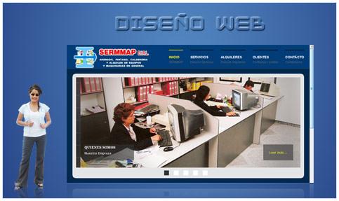 Diseño web de la empresa SERMMAP