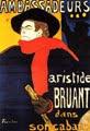 Aristide Bruant en su cabaret (cartel publicitario, 1895) - Henri de Toulouse-Lautrec (31)