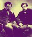 Edmond (a la izquierda) y Jules (derecha) de Goncourt