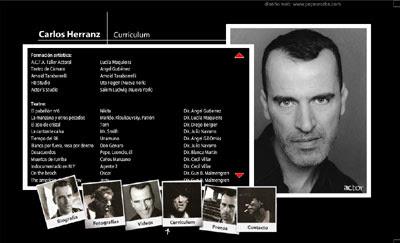 ver web del actor Carlos Herranz