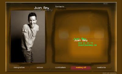 ver web del actor Juan Bey (diseñada por pepeworks)