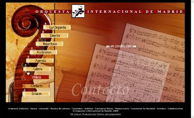 ver web Orquesta Internacional de Madrid