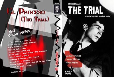 carátula de El Proceso de Orson Welles (diseñada por pepeworks)