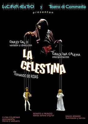 cartel para la obra de teatro La Celestina dirigida por Darío Galo (diseño de pepeworks)