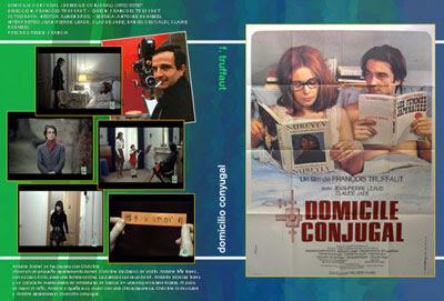 Carátula de dvd (Domicilio Conyugal de François Truffaut)