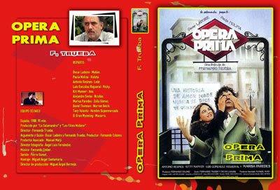 carátula dvd película Ópera Prima de Fernando Trueba - diseño de pepeworks