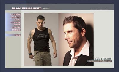 ver web del actor Fran Fernández