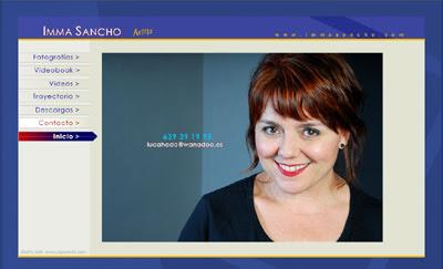 visitar la web de la actriz Imma Sancho