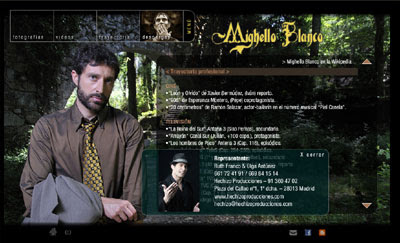 ver web del actor Mighello Blanco