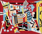 1940. Hot Still-Scape for Six Colors (obra de Stuart Davis, 46 años)