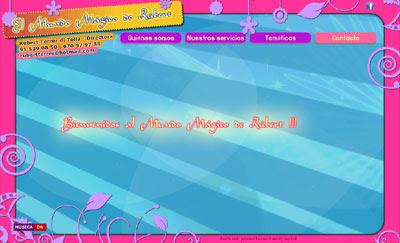 ver web del Mundo Mágico de Rúbert: Fiestas infantiles y animaciones para cumpleaños, bodas, comuniones, navidades, fiestas privadas...