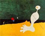 Joan Miró (33) - Personaje lanzando una piedra a un pájaro (1926)