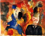 George Grosz (26) - Café (pluma, tinta y acuarela; 1919)