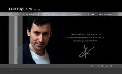 ver web oficial del actor Luis Filgueira (2ª versión)