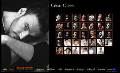 ver web del actor César Oliver