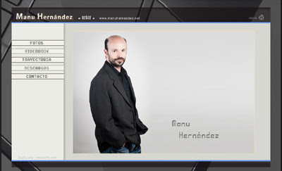 website del actor Manu Hernández