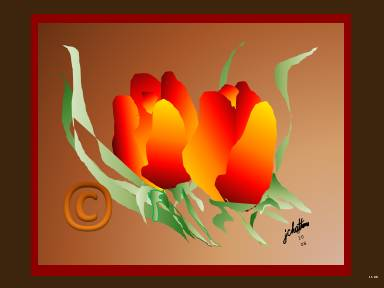 """Tulips"" with bronze by J. Chatham"