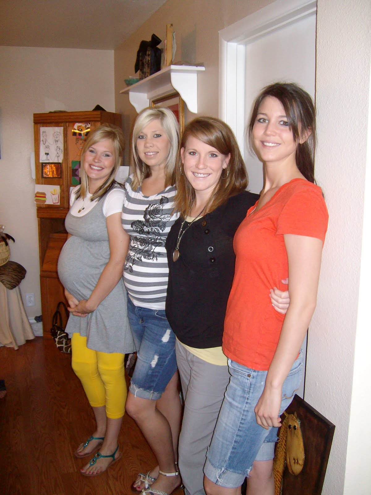 Plus check it out, all 4 of us are pregnant at the same time!