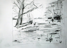 Snow, pond, trees 1