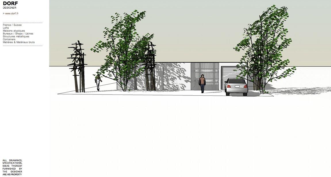 Dorf fr designer d57 patio breton - Maison bois low cost ...