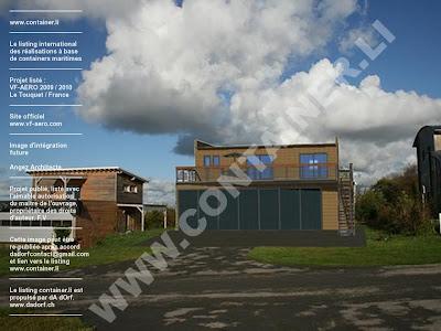 Maison et hangar avion en containers for Maison container nord pas de calais
