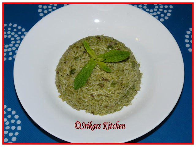 PUTHINA MALLI SADHAM-MINT CORIANDER RICE- RISSO VERDE - GREEN RICE