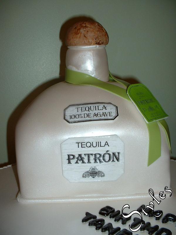 patron bottle cakes