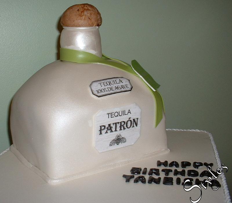 Cakes By Styles D Patron Bottle Birthday Cake - Patron birthday cake