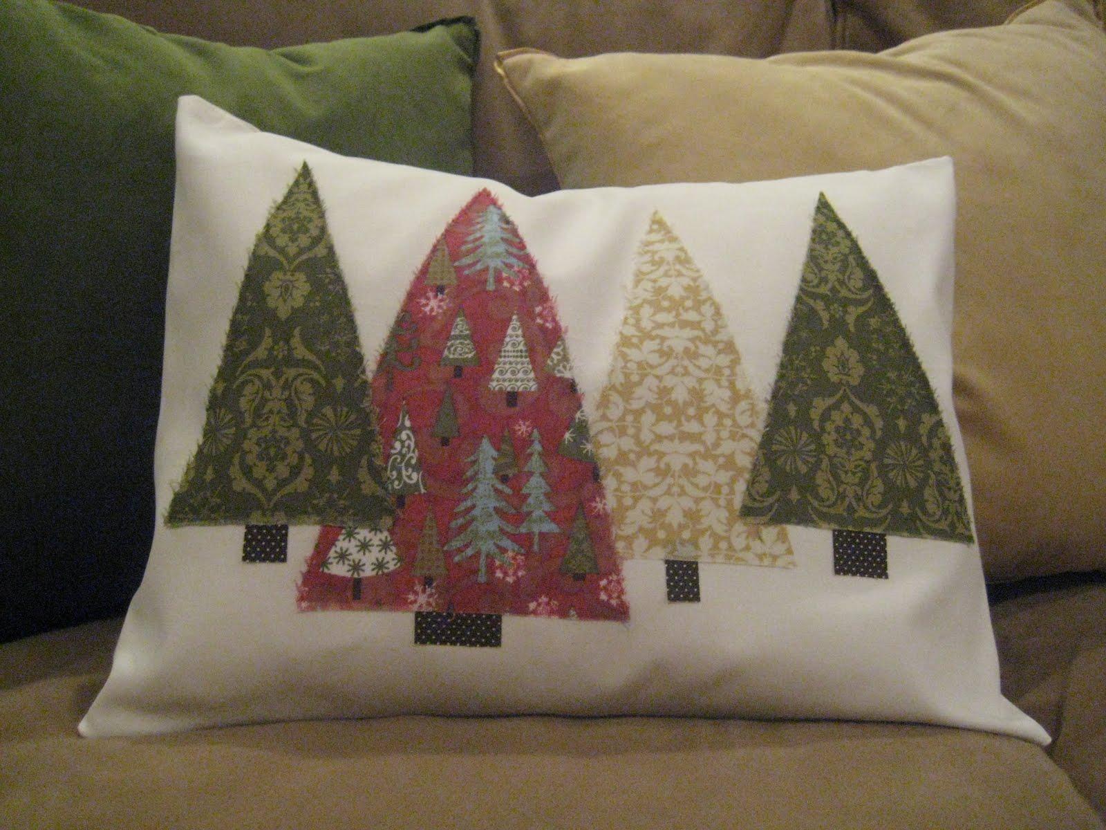 Inspired Honey Bee Sew Christmas Tree Pillows