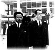 Haile Selassie I e o presidente brasileiro Juscelino Kubitschek  12 de dezembro 1960
