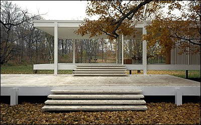 Farnsworth House Mies Hedrich-Blessing photo