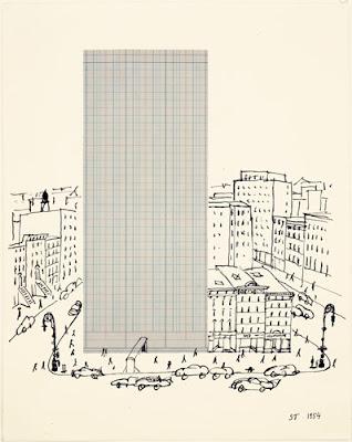 Saul Steinberg graph paper architecture