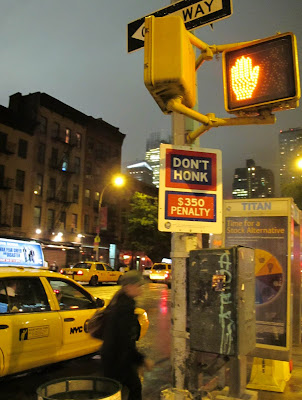 New York City Manhattan Mayor Bloomberg Don't Honk $350 Fine Silence Quiet