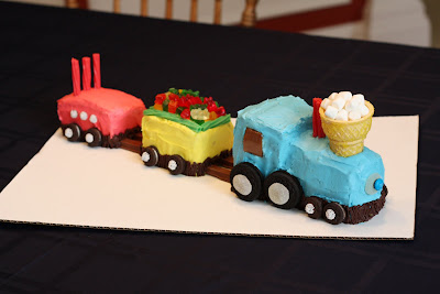 Love At First Bite Train Birthday Cake