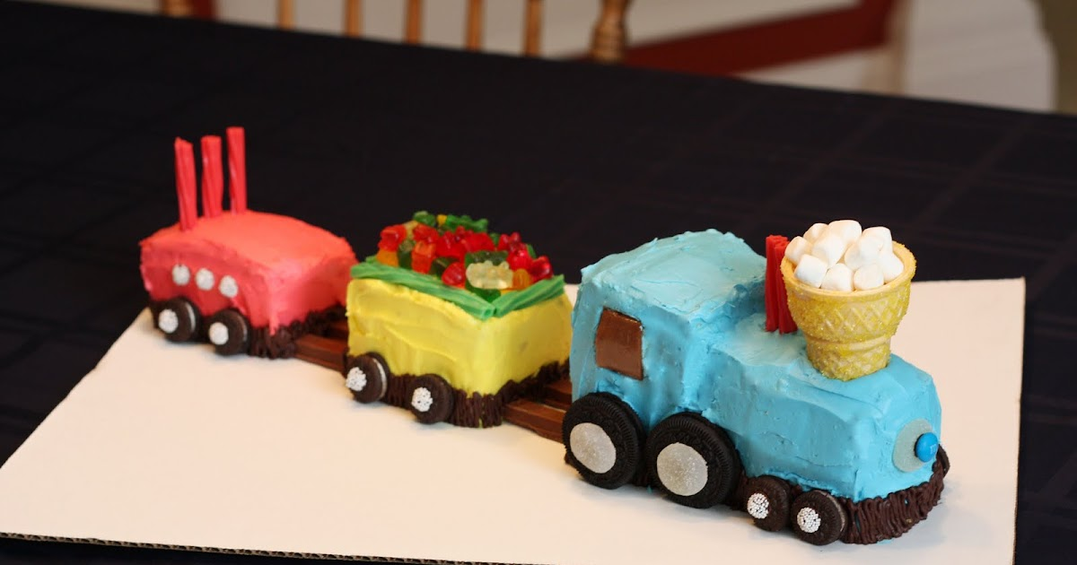 Love At First Bite: Train Birthday Cake